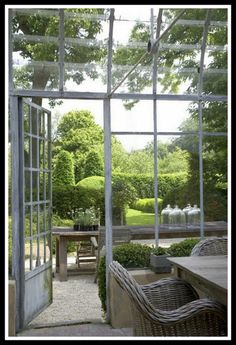 Inside the Conservatory Looking Out | Content in a Cottage
