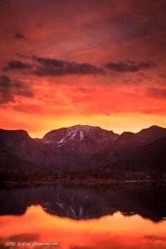 grand lake, mount craig, shadow mountain lake, october, sunr, photo