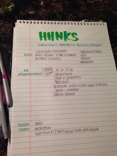 HHNKS nursing interventions. Study notes !