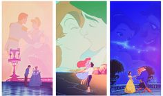Cinderella, The Little Mermaid and Beauty & the Beast