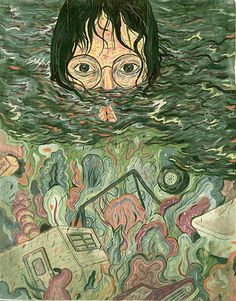 A portrait of Andrea Yates, who suffered from dementia and under a warped religious vision drowned her children in a tub. Image Credit: Sean Lewis.