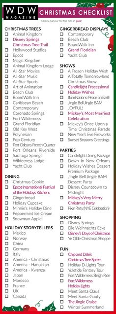Are you ready for Christmas at Walt Disney World? We've got your checklist to make sure you don't miss a thing!