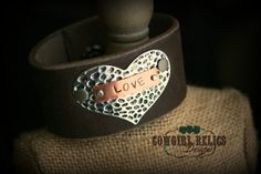 Rustic Cowgirl Leather Western Cuff  by cowgirlrelicsdesigns, $38.00