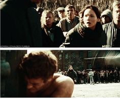 Heart breaking moment brought to you by Suzanne Collins, Lionsgate, and Francis Lawrence.