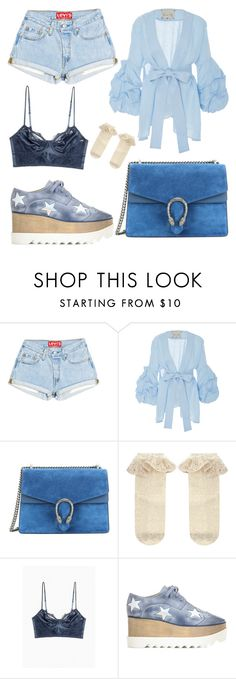 """Blue star"" by beelovem ❤ liked on Polyvore featuring Johanna Ortiz, Gucci, Monsoon and STELLA McCARTNEY"