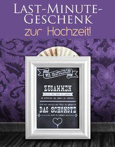 Eine schnelle #Geschenkidee zur #Hochzeit - einfach das #Freebie ausdrucken und das Geschenk selber #basteln!