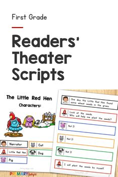 Engage your beginning readers with these fun readers theater scripts. They are perfect for first grade readersand and include 5 classic folktales, like The Gingerbread Man, The Little Red Hen, Three Little Pigs, Three Billy Goats Gruff, and Goldilocks and the Three Bears. Readers theater is a fun way to practice reading while building fluency. It can be done as a repeated read during guided reading, or used for a classroom play. These scripts also work well for late kindergarten. First Grade Reading, First Grade Classroom, A Classroom, Shared Reading, Guided Reading, Kindergarten Reading, Reading Activities, Partner Reading, Classroom Routines