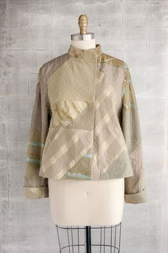 Moto #Jacket in Raw-Pieced #Linen and #Silk