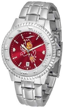 Arizona State Sun Devils ASU NCAA Mens Steel Anochrome Watch SunTime. $86.95. AnoChrome Dial Enhances Team Logo And Overall Look. Officially Licensed Arizona State Devils Men's Stainless Steel Dress Watch. Links Make Watch Adjustable. Stainless Steel. Men