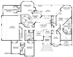 First Floor - wow . would have a detached garage - in place of it i would put bedrooms for kids