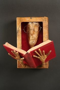 Reader by Tiffany Ownbey, paper mache artist