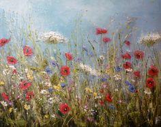 Dancing poppies by artist Marie Mills