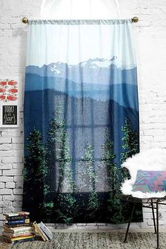 4040 Locust Mountain View Curtain - Urban Outfitters