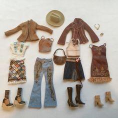 Barbie Doll My Scene Kennedy Bling Sparkle Faux Suede Belt Skirt Metallic Top
