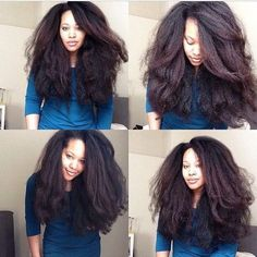 Get the most natural healthy-looking Dominican blowout or Kinky Curly stretched. hair weave look with movement. Perfectly blends with and even hair texture! Pelo Natural, Natural Hair Tips, Natural Hair Growth, Long Natural Hair Styles, 4c Hair Growth, Natural Hair Blowout, Pelo Afro, Natural Hair Inspiration, Afro Hairstyles