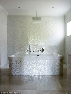 The new residents will be able to live like a superstar in the house, which is fitted with a sparkling bathroom