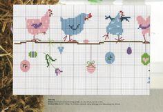 quelques poules sur un fil!