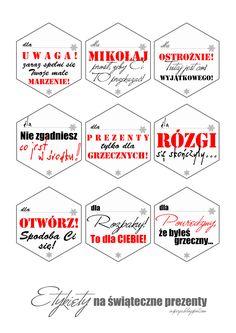etykiety na swiateczne prezenty za free, za darmo, do wydrukowania