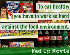 In the movie Fed Up, Katie Couric calls out the food industry for advertising processed food to children, contributing to the obesity epidemic. Healthy Eating Habits, Get Healthy, Healthy Living, Healthy Snacks, Healthy Recipes, Fed Up Movie, Nutrition Classes, Nutrition Tips, Recipe For Mom