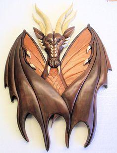 Intarsia dragon