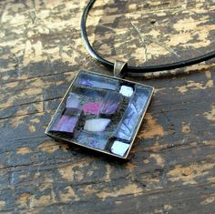 Amethyst Inspiration Mosaic Pendant by nutmegdesigns on Etsy, $29.00