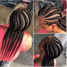 African American Cornrow Hairstyles 12 in Quick Braid Styles For Black Hair collection - HairSimply Braided Hairstyles For Black Women, African Braids Hairstyles, Twist Hairstyles, Cool Hairstyles, Conrows Hairstyles, Trending Hairstyles, Short Hairstyle, Ladies Hairstyles, Beautiful Hairstyles
