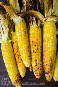 Grilling the corn with the husk on lets the corn cook in it's natural juices leaving corn tasting super sweet with tantalizing smoky undertones. Not to mention this grilled corn is perdy. Rub grilled corn with the following garlic lime butter sauce and it's sure to please!...