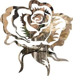 Camo rose this would make a cool tattoo