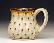 Dotted mug by Samantha Henneke New potter I found this year in seagrove- Bulldog Pottery- bought this mug!!!