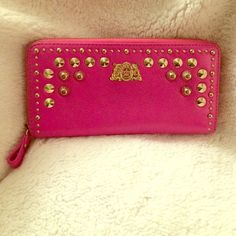 Juicy Couture Hot Pink Wallet with Studs Hot Pink + Gold Studs (lightly loved with some wear) Juicy Couture Bags Wallets