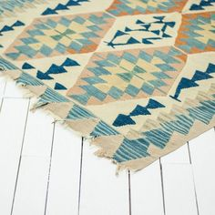Blue and Peach Rug l Turkish Rug l Wedding Ceremony Rug l Birch & Brass Vintage Rentals l Weddings and Corporate Events l Austin, Texas