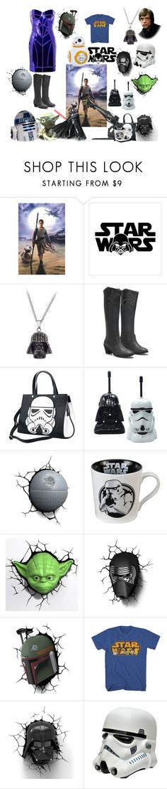 """""""star wars"""" by meera-cx ❤ liked on Polyvore featuring Versace, Hasbro and 3D Light FX"""