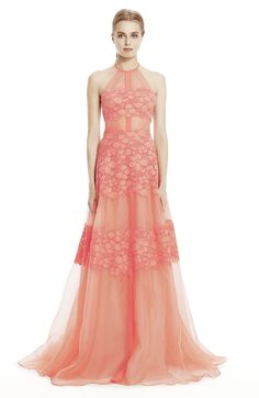 The Floral Corded Lace Gown by Lela Rose