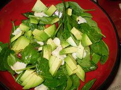 Sarah's Life in Food!: Recipe Spotlight: Fettuccine Alfredo and Spinach Salad with Honey Mustard Vinaigrette