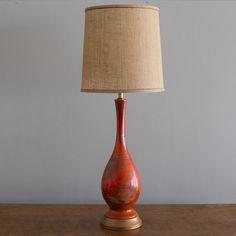 (29) Fab.com | Mcm Hot Orange Ceramic Lamp