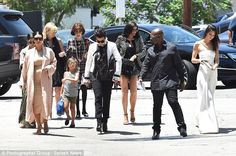 So many famous faces: Kendall and Kylie also made the scene with the E! clan