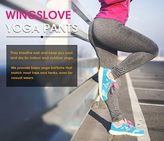 50%OFF With code FWQ7WWVJ  WingsLove Women's Yoga Pants Workout Fitness Sports Running Gym Activewear Leggings (XL, Charcoal)