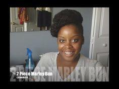 NATURAL HAIR: 2 PIECE MARLEY HIGH BUN TUTORIAL SHORT HAIR