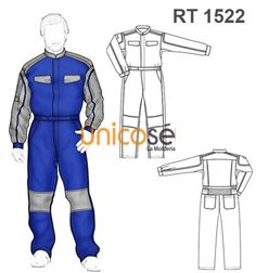 OVEROL MAMELUCO TRABAJO HOMBRE Technical Drawing, Pants Pattern, Fashion Flats, Fashion Sketches, Work Wear, Active Wear, Silhouette, Overalls, Laos