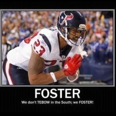 Best running back in the NFL, Houston Texan running back, Arian Foster.and he is vegan! Texans Football, Football Helmets, Watch Football, Football Baby, Arian Foster, Bulls On Parade, Foster Baby, Texas Pride, Fantasy Football