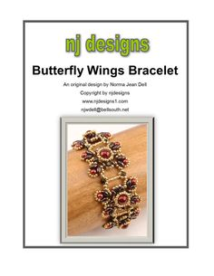 Instructions for Butterfly Wings Bracelet     by njdesigns1, $15.00