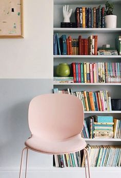 Great colour choice from @halfpaintedhouse for her RBM Noor chair with sledgebase, opting for frame and shell in rose, with matching seat fabric.With the Flokk configurator, you can design your own chair to perfectly suit your personality and environment.visit store.flokk.com/products to try it out today. #myhyggehome#Flokk #InspireGreatWork #ScandinavianDesign #inspiremyinstagram #interior_delux Can Design, Design Your Own, Contemporary Classic, Scandinavian Design, Bookcase, Shelves, Chair, Frame, Colour