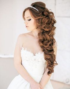 krullen-bruidskapsel
