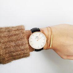 Fashionably large wrist watch