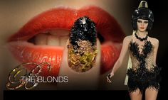 Biker Babe Manicures - The Blonds Fall 2012 NYFW Runway. Over 130 hours of hand-detailing these nails!