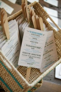 The wedding ceremony programs on fans…a great idea for an outdoor wedding! Diy Wedding, Wedding Favors, Dream Wedding, Wedding Day, Summer Wedding, Post Wedding, Program Fans, Fan Programs, Wedding Ceremony Programs