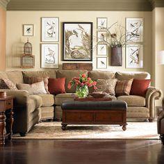 Bassett Custom Upholstery Large Curved Corner Sectional