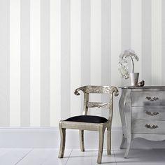 Graham & Brown Gray Calico Stripe Removable Wallpaper - The Home Depot Striped Wallpaper Gray, Stripe Removable Wallpaper, Striped Walls, Metallic Wallpaper, Morris, Home Wallpaper, Pearl Wallpaper, Hallway Wallpaper, Wallpaper Online