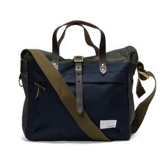 Briefcase - Khaki X Navy