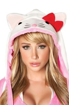 Beautiful colorful pictures and Gifs: Color splash pink photos-Rosado Hello Kitty Costume, Sara Underwood, J Valentine, Pink Photo, Cute Costumes, Halloween Costumes, Glamour, Cosplay, Gatos